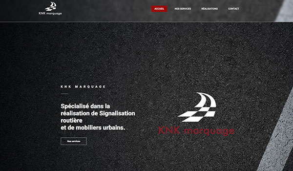 Site internet - KNK Marquage