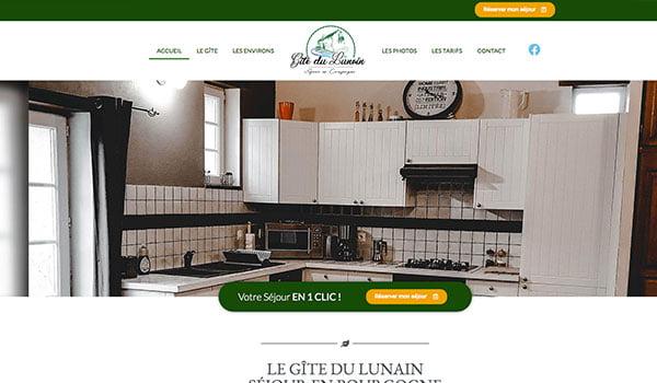 Site internet - Gîte du Lunain