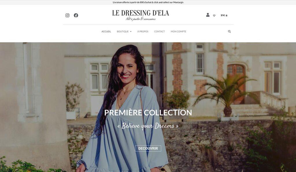 Site internet - Le Dressing d'Ela